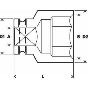 Торцовая головка 1 ударная 32 мм, BOSCH, 1608557050