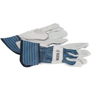 Защитные перчатки с вставками из бычьей кожи GL SL 11, 10 пар, BOSCH, 2607990107
