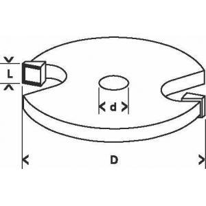 Фреза кромочная фальцевая 32х51 мм, хвостовик 8 мм, по дереву, BOSCH, 2608628403