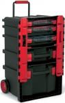 Ящик для инструментов передвижной Profi + 3 органайзера + 2 чемодана №59, TAYG, 159008
