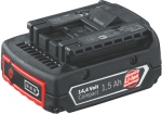 Аккумулятор с индикатором заряда Li-Ion, 14,4 В, 1.5А/ч, BOSCH, 2607336552