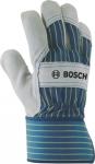 Защитные перчатки с вставками из бычьей кожи GL SL 10, 1 пара, BOSCH, 2607990104