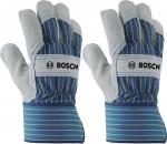 Защитные перчатки с вставками из бычьей кожи GL SL 11, 1 пара, BOSCH, 2607990106