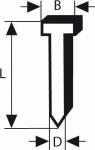Штифты для гвоздезабивателя GSK 64, оцинкованные, 2500 шт, BOSCH
