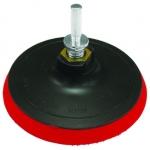 Диск шлифовальный, М 14, 125 мм с липучкой, красный, FAMAKS, 39125