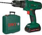 Дрель-шуруповерт аккумуляторная 18,0 В, 2 скорости, подсветка, резиновые вставки, кейс, ABS-18 Tli BMC, DWT, 86059