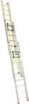 Лестница трехсекционная усиленная профессиональная с канатной тягой 3х25 (7080/18560, 78 кг), АЛЮМЕТ, 3325