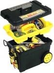 """Ящик для инструмента пластмассовый с колесами """"Pro Mobile Tool Chest"""" с органайзером и съемными отделениями в крышке, STANLEY, 1-92-083"""