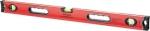Уровень алюминиевый, 3 глазка, ударопрочные заглушки, двухкомпонентные ручки, MATRIX PROFI