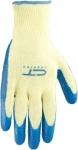 Перчатки х/б 10 класс, латексное рельефное покрытие, L, СИБРТЕХ, 67752