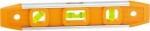 """Уровень усиленный, 230 мм, 3 глазка, пластмассовый """"Торпедо"""" (IV), SPARTA, 346115"""